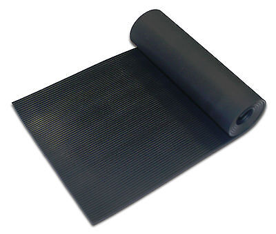 Ribbed Rubber Flooring Matting 1.2M Wide 3Mm Thick Anti Slip / Non Slip