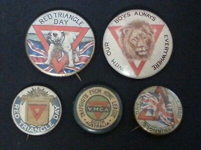 Red Triangle Day WWI Badges