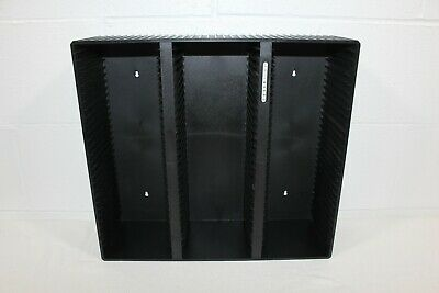 Vtg Laserline Plastic Wall Mount Storage Display Rack Shelf 90 CD GENUINE Black