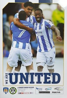 COLCHESTER UNITED v FOREST GREEN ROVERS 2017/18