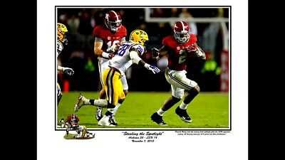 Alabama Stealing The Spotlight Derrick Henry Vs Lsu 2015 Riggins Print Large L/E