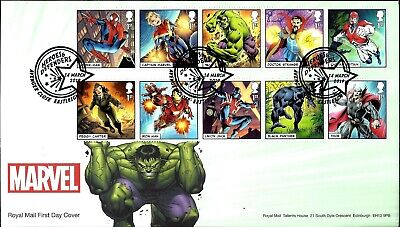 Gb 2019 Fdc Marvel Presentation Pack 568 Stamps Sheet Collector Retail Prestige