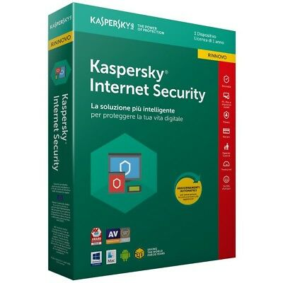 ANTIVIRUS KASPERSKY INTERNET SECURITY 2018/2019 - 1PC/1 ANNO - 365 Giorni