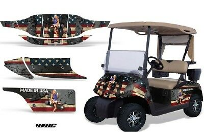 Golf Cart Graphics Kit Decal Sticker Wrap For 2 Seat EZ-Go TXT 94-13 WW2 BOMBER