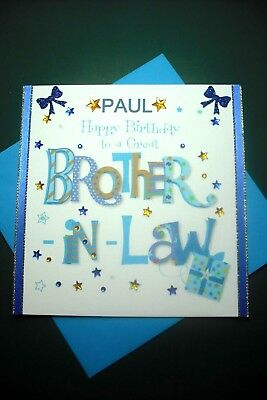 Handmade Personalised Brother-in-Law Birthday Card