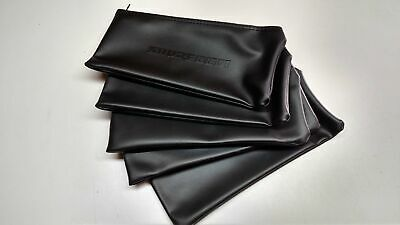 5x Black Leather Shure Mic Protective Storage Bags Pouches for Beta 87A 58A 57A