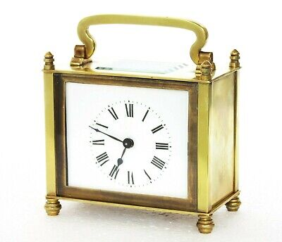 Rare French Couaillet Freres Oblong Carriage Clock, Brass, Working Well
