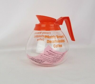 12 Cup Commercial Decaffeinated Orange Coffee Pot Replacement