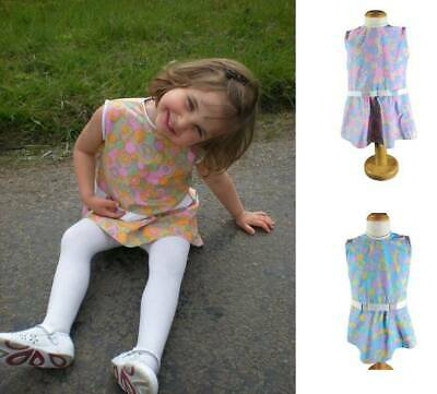 60's vintage girls dress mod mini skirt psychedelic flower power costume age 2-5