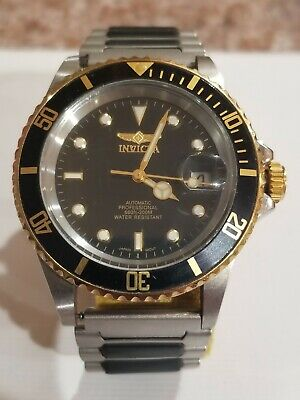 INVICTA Pro Diver Mens Watch Gold-tone with Black Trim