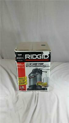 NEW Factory Sealed Rigid 500RS 1/2 HP Sump Pump Cast Iron
