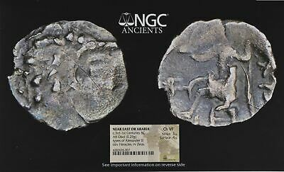 "Small NGC Greek Silver Obol, ALEXANDER (III) The Great, ARABIA Mint, ""Ch V FINE"""