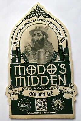 Beer Pump Clip Badge Modos Midden Discworld ale Brecon Brewing BP228