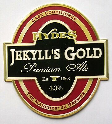 Beer Pump Clip Badge Jekyll's Gold Hydes Brewery Salford Manchester BP231