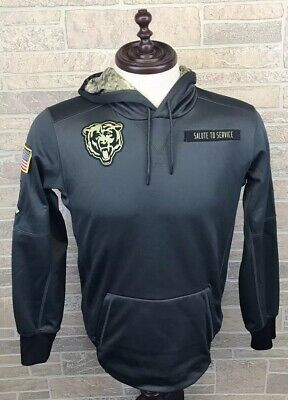 best loved 69a3b 2677d NIKE CHICAGO BEARS Sweatshirt NFL Salute To Service Therma Fit Hoodie Size S