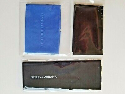 3 Designer Microfiber Eyeglass/Sun Cleaning Cloths Coach, Tommy Hifiger, Dolce&G