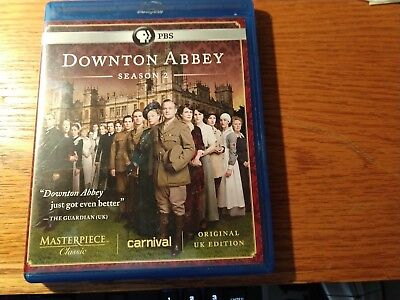 Downton Abbey Season 2 - Blu-ray 2014 3 disc set LIKE NEW