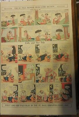 Polly and Her Pals Sunday by Cliff Sterrett from 5/29/1932 Full Page Size !