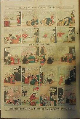 Polly and Her Pals Sunday by Cliff Sterrett from 9/20/1931 Full Page Size !