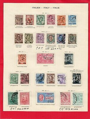 Italy-Italia-1901/10 Selection Used/stamped Catalogued 630 Euros In 2017