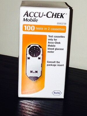 Accu Chek Mobile. 100 Test Strips Cassette