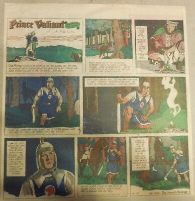 Prince Valiant Sunday by Hal Foster from 5/14/1972 2/3 Full Page Size !