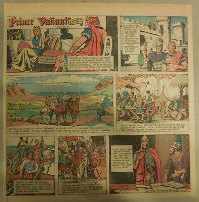 Prince Valiant Sunday by Hal Foster from 7/18/1971 2/3 Full Page Size !