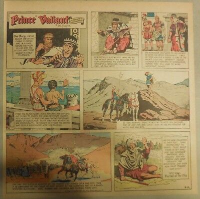 Prince Valiant Sunday by Hal Foster from 9/19/1971 2/3 Full Page Size !