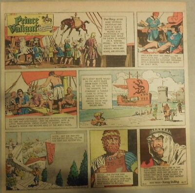 Prince Valiant Sunday by Hal Foster from 11/7/1971 2/3 Full Page Size !
