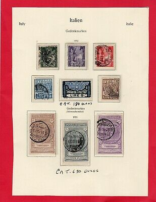 Italy-Italia-1923 2 Complete Sets Used/stamped Catalogued 830 Euros In 2017