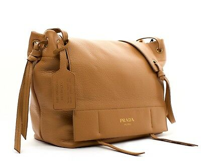 3a739a7d1a49 RARE - AUTHENTIC PRADA Cervo Deerskin Side Zip Tote Shoulder Bag ...