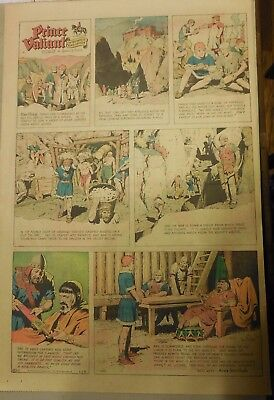 Prince Valiant Sunday by Hal Foster from 1/25/1970 Rare Full Page Size !
