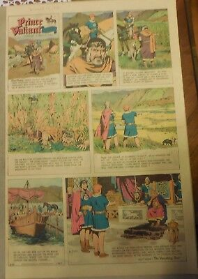 Prince Valiant Sunday by Hal Foster from 3/15/1970 Rare Full Page Size !