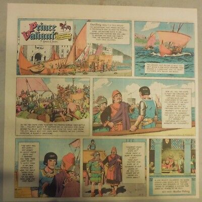 Prince Valiant Sunday by Hal Foster from 5/5/1968 2/3 Full Page Size !