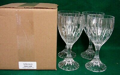 Mikasa PARK LANE Water Goblets SET of FOUR Mint in Box More Item Available