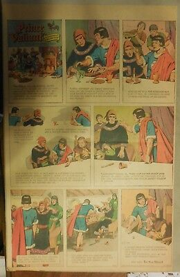 Prince Valiant Sunday by Hal Foster from 5/10/1964 Rare Full Page Size !