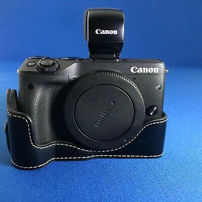 Canon EOS M3 Digital Camera Kit with EFV & Leather 1/2 case
