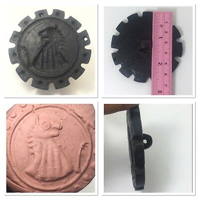 Near eastern black stone stamp seal unique shape