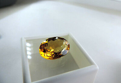 """Sweet 15.40ct Ural Mountain, Russian Citrine.""""SUPERIOR QUALITY"""" Cut by me :)"""