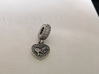 63319b274 Authentic Pandora Mom Center Of My Heart With Clear CZ Charm 791521CZ