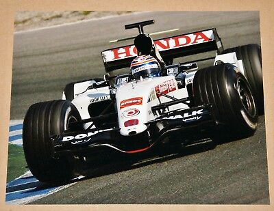 Tony Kanaan 8x10 Photo 2005 Honda F1 BAR 007 Formula 1 Jerez Test, IRL Indy Car
