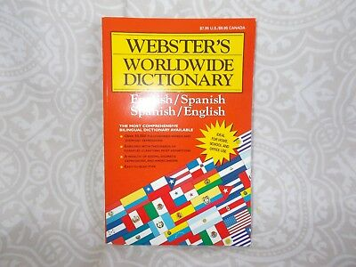 15 Websters Worldwide Dictionary's Spanish-English
