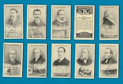 Cigarette cards set Scientific Inventions & Discoveries, AirShip,Aeroplane,X-Ray