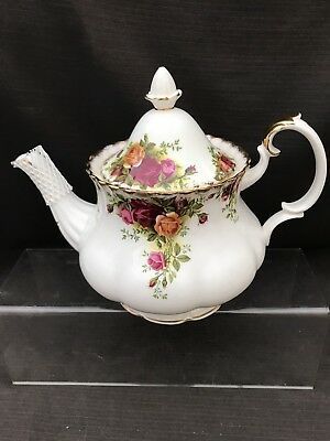 ROYAL ALBERT OLD COUNTRY ROSE LARGE TEA POT 1st Quality