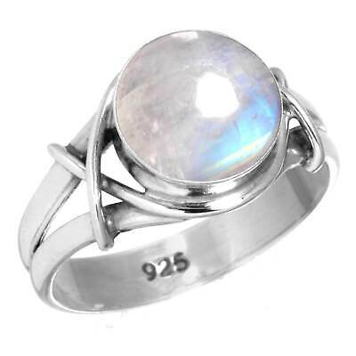 925 Sterling Silver Ring 925 Jewelry FREE SHIPPING AAA Rainbow Moonstone Sterling Silver Ring 925 Solid Silver Stone Ring