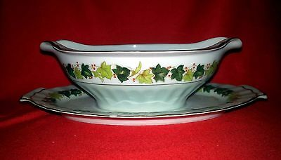 Regal China Occupied Japan - Lawndale - Gravy Boat w/ Attached Underplate - CHIP