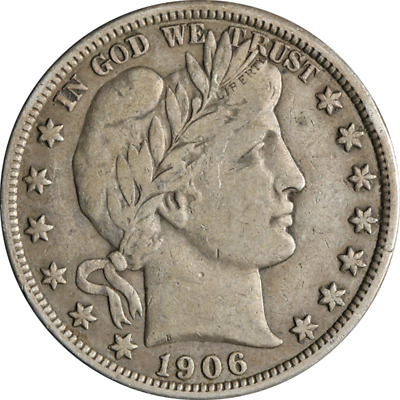 1906-P Barber Half Dollar Great Deals From The Executive Coin Company