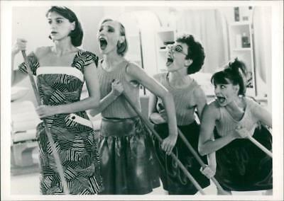 A scene from the film Golden Eighties. - Vintage photo