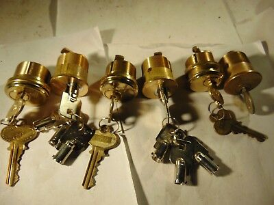6 New Mortise Locks Cylinders  With  Key.    Locksmith
