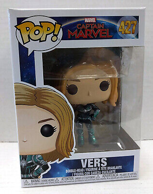 Captain Marvel VERS Funko POP #427 Figure - NEW